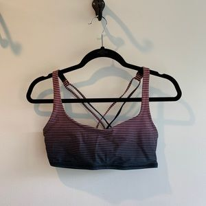 Lululemon free to be bra H2O, double gradient